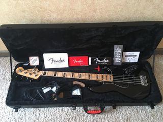 Fender american deluxe jazz bass v - бас гитара и комплект - в тирасполе