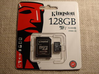 Kingston Micro SDXC 128GB, 45 Mb/s, original, nou sigilat.