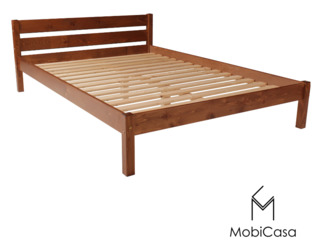 Ara-cel mai ieftin pat dublu din lemn natural