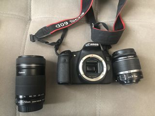 Canon 60D + efs 18-55mm + 55-250mm f1:4-5.6 IS