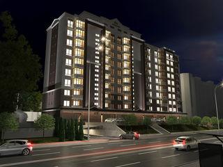 Buiucani! Alba Iulia Residence, Ap. cu 2 odăi, 53,75m2 la preț de 690euro/m2!