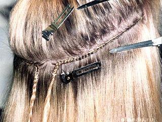 наращивание волос безопастной технологией пришивание трессов!