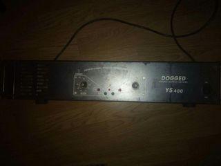 Комплект аудио оборудования. Микшер - ALTO 8. Усилитель Dogged 400. Колонки-мониторы Phonic.