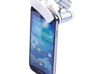 MIcroscop de buzunar cu lumina UV si clipsa de montat pe telefon!