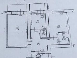 Продаётся 2-х комнатная квартира в центре Кагула, 2 балкона, комнаты и санузел раздельные!!!
