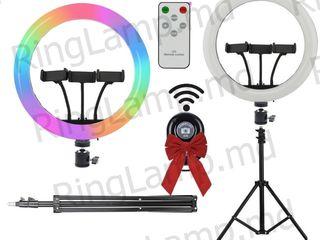 Кольцевая лампа RGB 36см для Тик-Ток, Блогерам+подарок