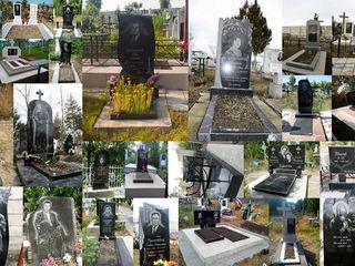 Monumente funerare din granit, pietre funerare. Manopera, instalaţie, restaurare.