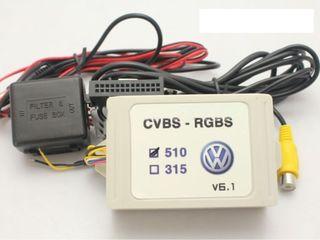 Адаптер rgb к штатным мониторам volkswagen-skoda-seat  rcd510/rns315/rns510