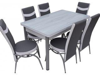Set de masă cu 6 scaune,livrare gratuită,preț mic,reducere