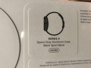 New Apple Watch Series 4 44mm black sport sigilat din SUA cu funcția Pulsul