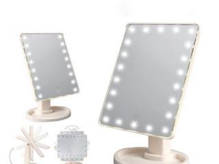 Oglindă cosmetică LED cu suport. Livrare