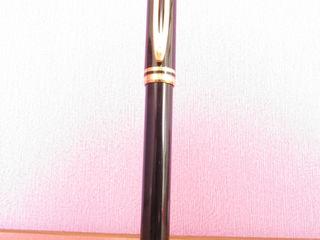Шикарная ручка Waterman, модель Le MAN 100 -Юбилейная. Корпус из латуни и смолы, с покрытием 18-кара