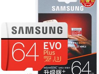 Micro SD Samsung Evo Plus 64 Gb + usb/sd adapter - 260 lei.