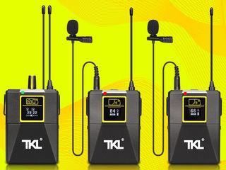Профессиональный беспроводной микрофон TKL PRO WM8 UHF Wireless, 2 трансмиттера+1 ресивер
