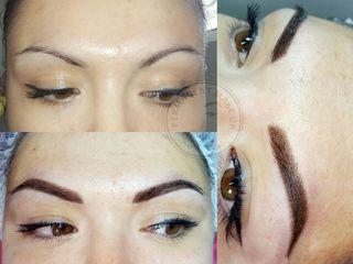 Пудровое напыление бровей, powder brows