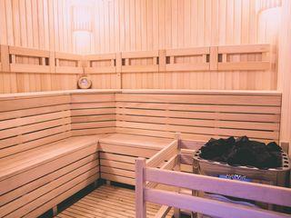 Saună finlandeză cu ceaun carpatic la lemne