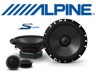 Alpine s-s65c двухполосная компонентная акустическая система s-series