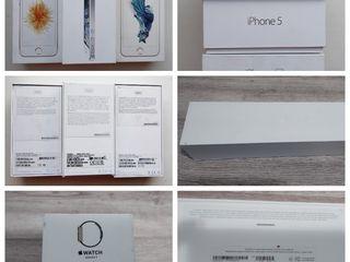 Se vinde cutie de la iphone SE,5/6S 16/64 gb Apple Watch Series 2