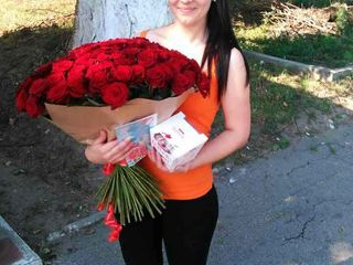 Розы по доступным ценам . 101 роза от