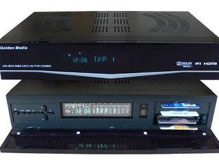Спутниковый Full HDTV ресивер Golden Media UNI-BOX 9080 CRCI HD PVR COMBO Plus