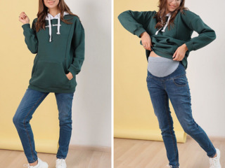 Blugi boyfriend pentru gravide/Стильные джинсы boyfriend для беременных