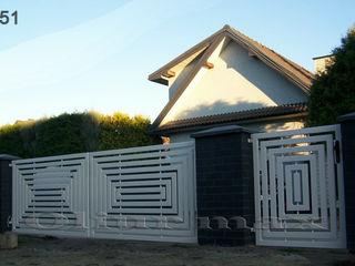 Козырьки, ворота, заборы, решётки, металлические двери  и другие изделия из металла.