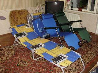 Новые раскладушки, шезлонги, столики, стульчики,кровати