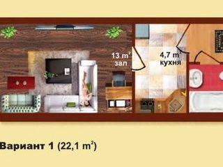 Apartament cu o camera in casa noua in Gratiesti numai 9900 Euro