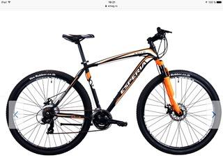 Bicicleta MTB Esperia Alaska 29-er, Black/Orange, 51cm, M