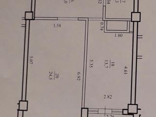 Se vinde apartament cu o odaie 56 m.p. pe Str. Petrarilor.