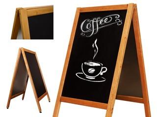 Table magnetice cu suprafața neagră pentru cafenele, restaurante, terase.