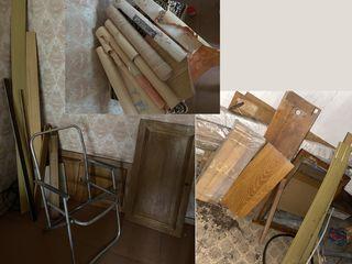 Разное - куски натурального дерева, дверцы от мебели из натурального ореха и др. - за всё вместе все