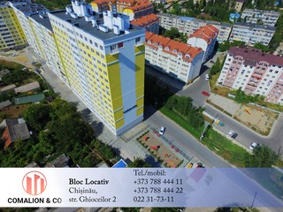 Bloc Locativ dat in exploatare, 500-550  Euro/m2, VALEA MORILOR www.constructmc.md
