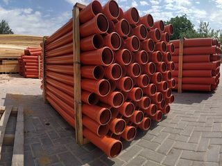 Țevi de canalizare din PVC(Orange)SN-2/SN-4 la preț accesibil,din Romania/Germania