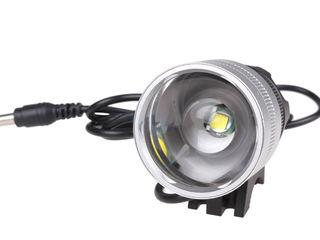 Светодиодный налобный/ велосипедный фонарь с функцией Zoom.