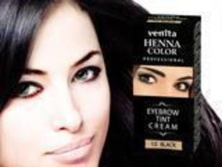хна для бровей Крем-краска для бровей .venita-cream-henna-color.