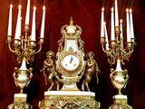ceas de șemineu din bronz, ceas de masă, ceas + sveșnice...Каминные часы из бронзы