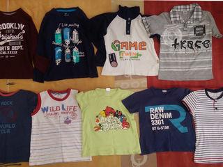 Б/у футболки и шортики на мальчика 6-7 лет