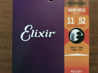 Strune Elixir pentru ghitară acustică
