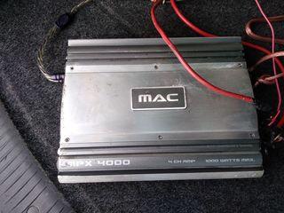 Усилитель Mac audio 1000w = 65 evro 4 канальный