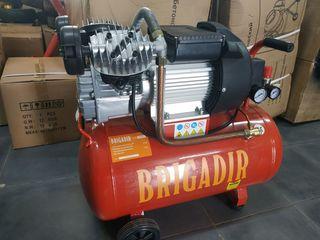 Профессиональный двух поршневой компрессор Бригадир 50 литров гарантия 1 год '