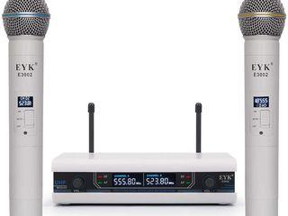 Хорошие микрофоны очень выгодно! EYK E3002 UHF 2 Channel Dual Metal