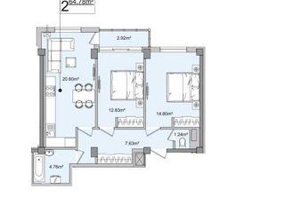 2 Camere, promoție!!! 27300 Euro, 65 M2, Botanica, Belgrad (lingă Cuza Vodă)