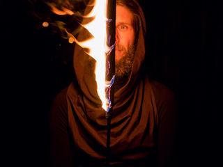 Огненное шоу - театр огня Sansara (+барабанщики)