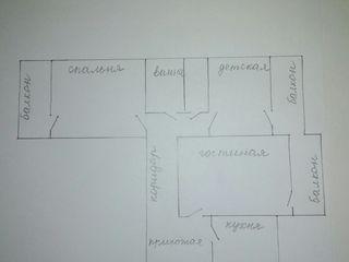 Срочно !!!!Продаю 3 х комнатную квартиру на Ботанике.
