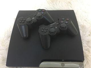 PlayStation 3 Slim + контроллеры + игры (Gta V,Fifa 2019,God of war, и др.)