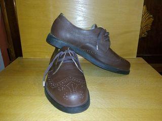 Туфли коричневые 42 размер, кожа, новые