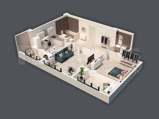 Apartament de 73,22 m2 cu 2 odăi! Str. Matei Basarab!
