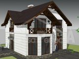 Casa din cotelet varianta alba, proiect individual, planimetrie functionala, termoizolare eficienta