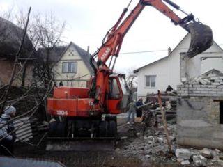 Demolarea constructiilor si evacuarea diseurilor Снос строении домов вывоз мусора очистка участков